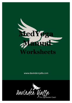 MedYoga Worksheets