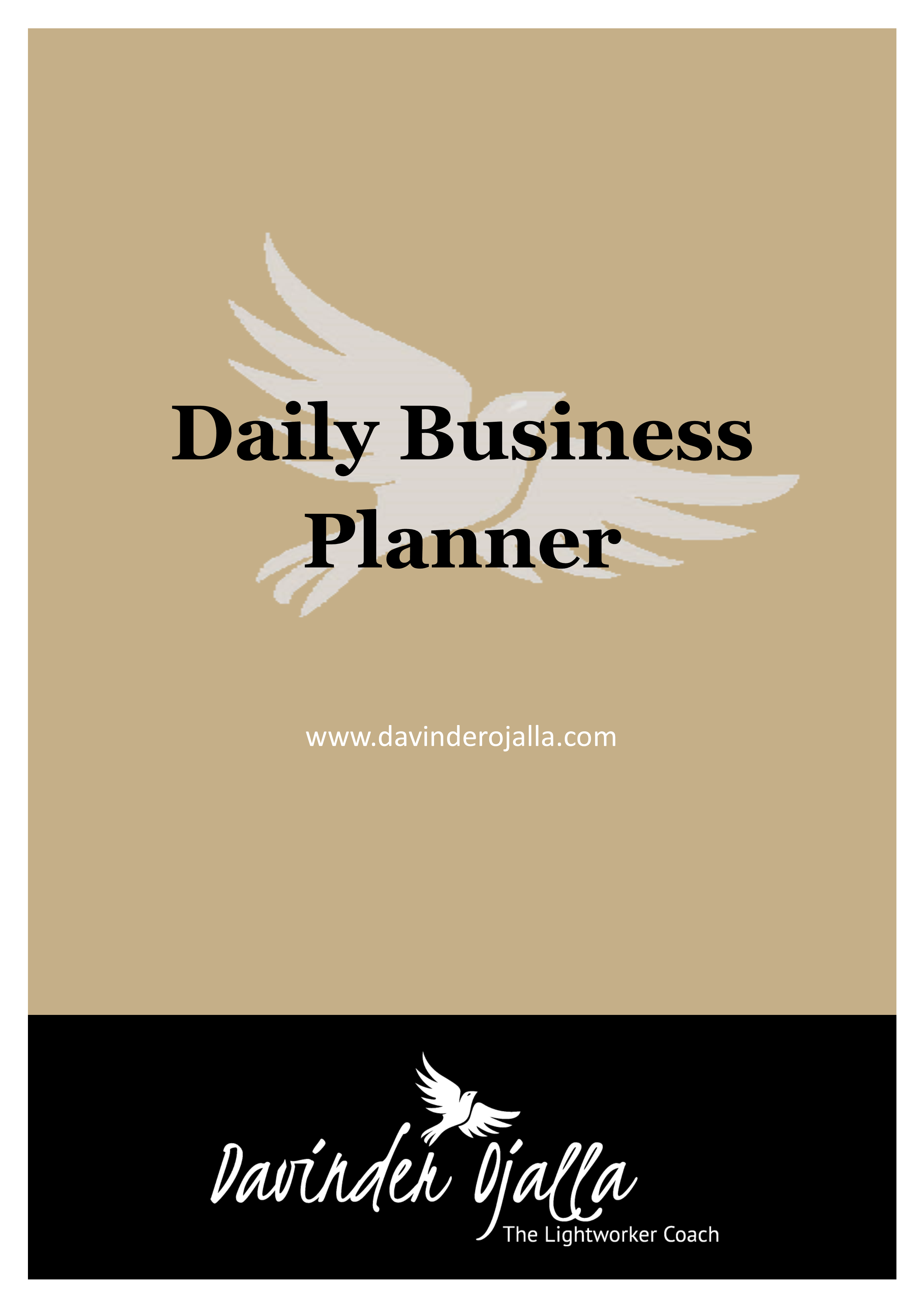 daily business planner cover davinder ojalla